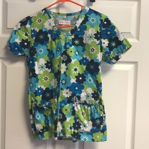Other - White Cross Brand print scrub top